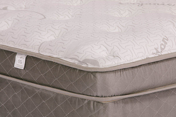 The Bella - Euro Top | Green Mattress | Ivy Extreme Green - PJs Sleep Company | Luxury Organic Mattresses & Bedding