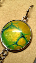 Load image into Gallery viewer, Acrylic Paint Glass Cabochon Stainless Steel Earrings 22mm/7/8""