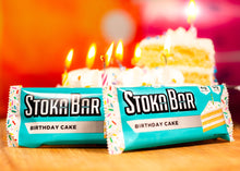 Load image into Gallery viewer, birthday cake stoka bar keto gluten free