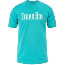 Load image into Gallery viewer, stoka blue t shirt aqua turquoise blue color