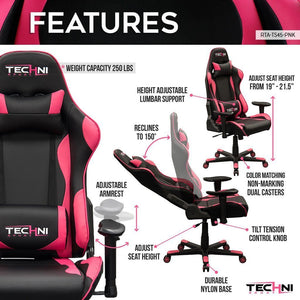 Gaming Chair - TS45 Pink Gaming Chair