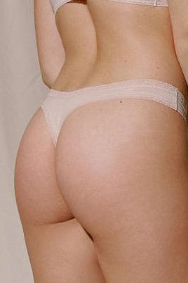 Blush Lingerie Micro Lace Trim Thong