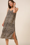 Leopard animal print slip dress