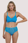 Deja Day Emma Sky Blue Lace Wireless Bra