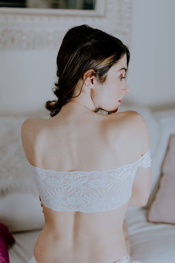 white lace bandeau bralette hidden intimates