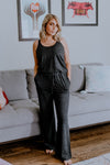 Joe's Jeans Racerback Jumpsuit Heather Black
