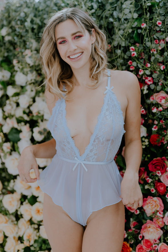 Oh La La Cheri  BIJOU LACE AND MESH ROMPER Hidden Intimates
