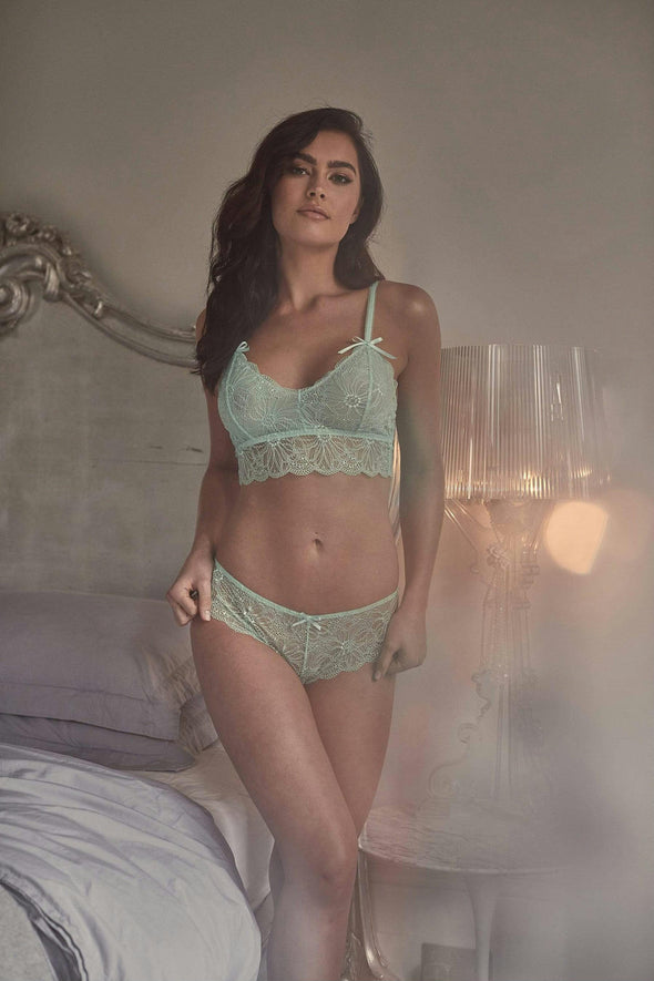 Wolf & Whistle Ariana Lace Mint Briefs Hidden Intimates