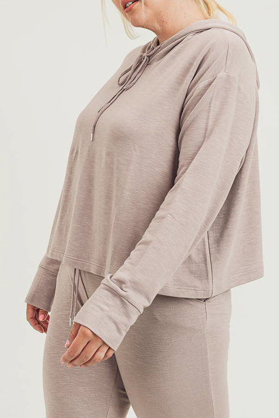 Plus Size Cropped Boxy Hoodie