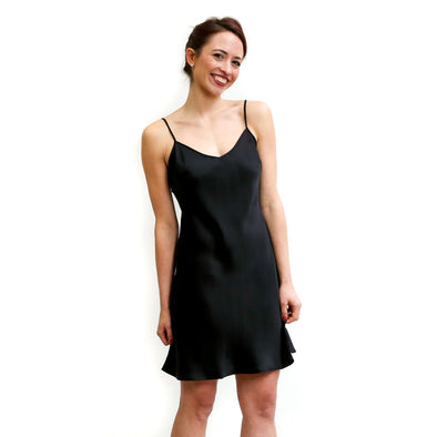 Black Silk Slip Dress Hidden Intimates