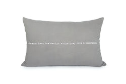 ציפית / כרית אפור בטון 90/60 הדפס dream imagine design white grey love&inspiration