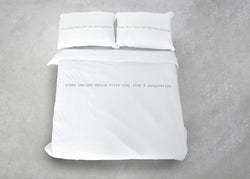 ציפה לבנה הדפס DREAM IMAGINE DESIGN WHITE GREY LOVE & INSPIRATION אפור