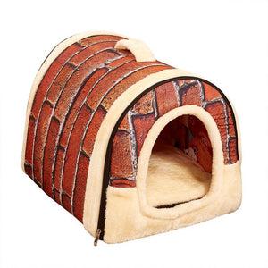 Dog House Nest With Mat Foldable