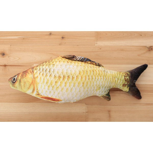 Plush Creative 3D Carp Fish Shape Toy