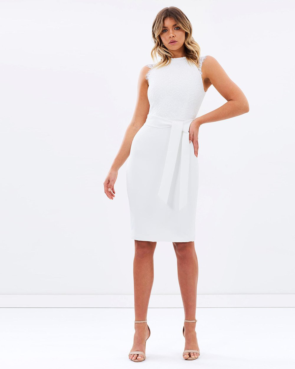 white occasion dress
