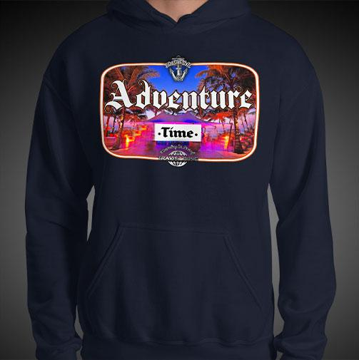 Adventure Time Travel Hoodie Mens Authentic Quality Hoodies Men Hoods - Travell Well