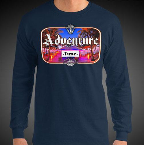 Adventure Time Travis Living Tee Men's Long Sleeve Shirt Authentic Quality Men's Shirts