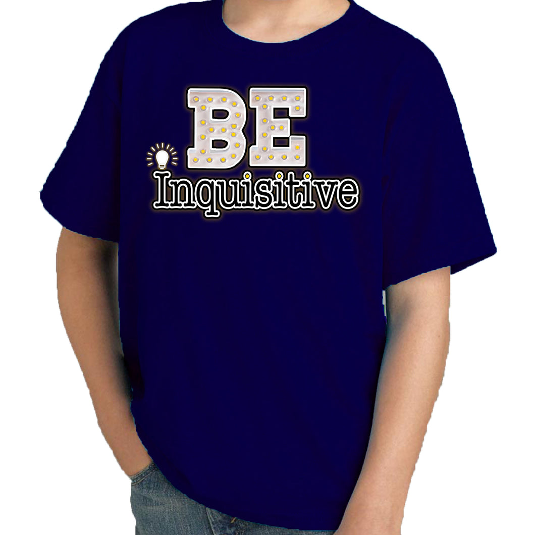 Travis Living Shirt Boys Be Inquisitive T-Shirt Boy Tees