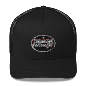 Believe It Achieve It Hat Max La Vida Maximize Life Retro Trucker Hats