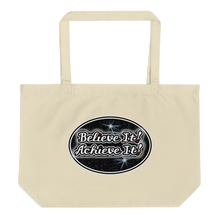 Load image into Gallery viewer, Max La Vida Believe It! Achieve It! Large Tote Bags