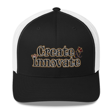 Load image into Gallery viewer, Max La Vida Create Innovate Retro Trucker Hats