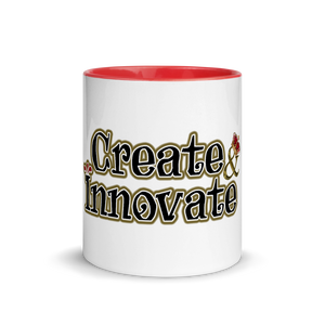 Max La Vida Create Innovate Multi-Color Coffee Mugs