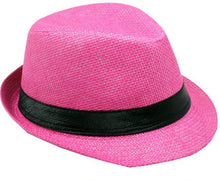 Load image into Gallery viewer, Fedora Jr Size Boys Girls Travis Living Hats Kids Size Pink Fedoras