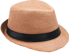Load image into Gallery viewer, Fedora Jr Size Boys Girls Travis Living Hats Kids Size Light Tan Beige Fedora Hats