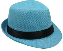 Load image into Gallery viewer, Black Fedora Jr Size Boys Girls Travis Living Hats Kids Size Black Fedoras Hats