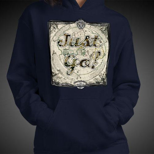 Just Go Travel Hoodie Girls Authentic Quality Hoodies Women Hoods - Travell Well