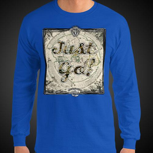 Just Go Travis Living Tee Men Long Sleeve Shirt Authentic Quality Men's Shirts