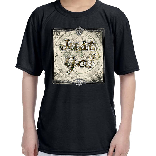 Travis Living Shirt Boys Travel Just Go T-Shirt Boy Tees