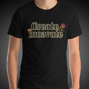 Max La Vida Men's Create Innovate Motivational Tee Shirt