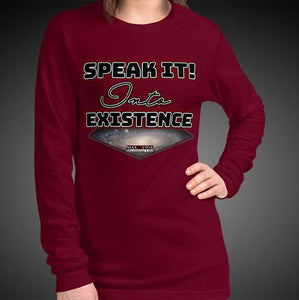 Max La Vida Women's Speak It Into Existence Long Sleeves