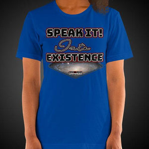 Max La Vida Women's Speak It Into Existence Motivational Tee Shirt