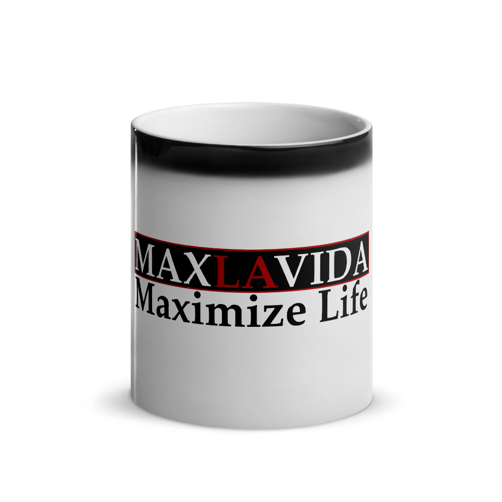 Max La Vida MaxLaVida Maximize Life Faded Black Coffee Mugs