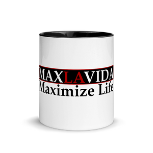 Max La Vida MaxLaVida Maximize Life Multi-Color Coffee Mugs