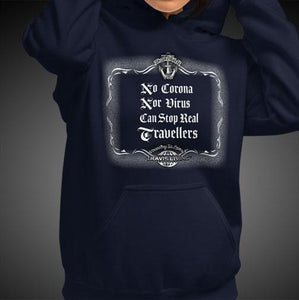 No Corona Nor Virus Can Stop Real Travelers Travis Living Girl Hoodie Women Hoodies Girls Hoods