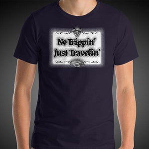 No Trippin' Just Travelin' Travel Shirt Mens Travis Living Travel T-Shirt Men Tees