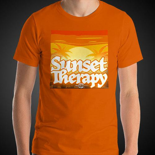Sunset Therapy Shirt Mens Travis Living Travel T-Shirt Men Tees