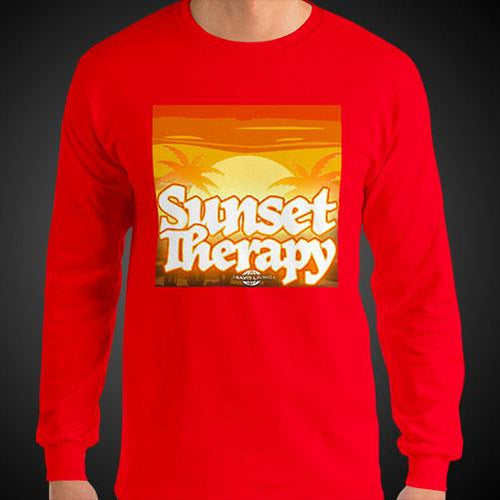Sunset Therapy Travis Living Tee Men's Long Sleeve Shirt Authentic Quality Men's Shirts