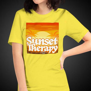 Sunset Therapy Shirt Girls Travis Living Travel T-Shirt Womens Tees