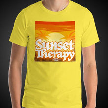 Load image into Gallery viewer, Sunset Therapy Shirt Mens Travis Living Travel T-Shirt Men Tees