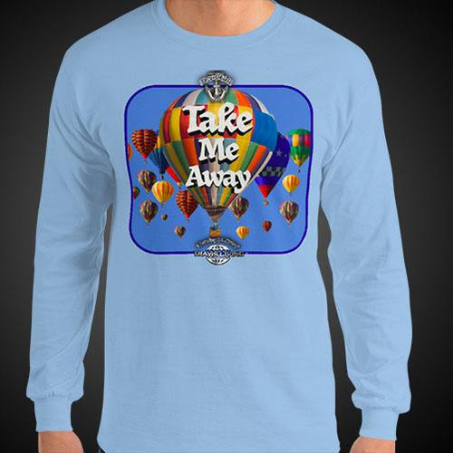Take Me Away Travis Living Tee Men's Long Sleeve Shirt Authentic Quality Men's Shirts