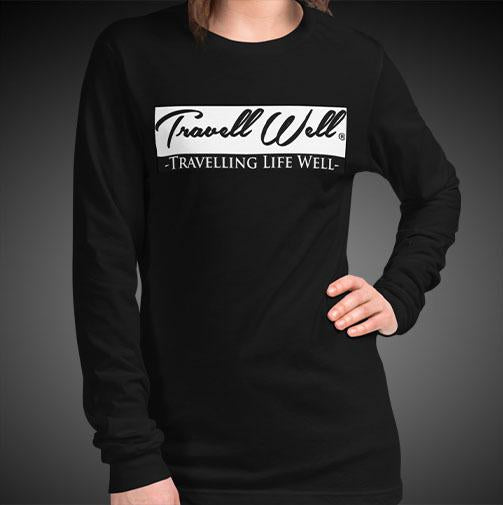 Travell Well Travis Living Tee Girls Long Sleeve Shirt Authentic Quality Womens Shirts