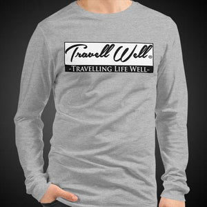Travell Well Travis Living Tee Men's Long Sleeve Shirt Authentic Quality Men's Shirts