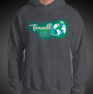 Travell Well Logo Travis Living Hoodie Mens Authentic Quality Hoodies Men Hoods
