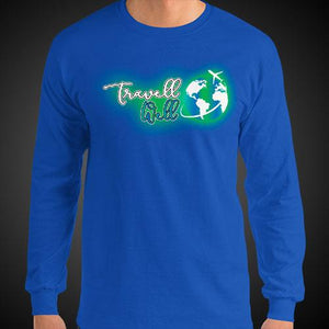 Travell Well Logo Travis Living Tee Men's Long Sleeve Shirt Authentic Quality Men's Shirts