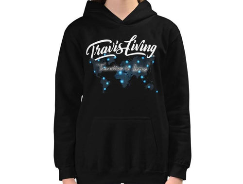 Travis Living Girls Hoodie World Travel Map Plan Traveling Hoodies XS-XL Hoody