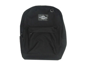 Travis Living Backpacks Black Best Basic Reliable Economical Large Backpack FREE U.S Ship